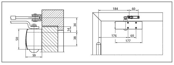 amortizor usa geze ts 1500 pentru usi lemn. Black Bedroom Furniture Sets. Home Design Ideas